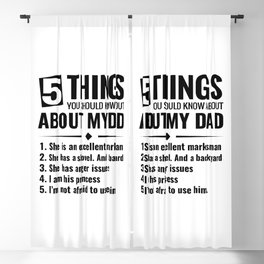 5 things you should know about about my dad Blackout Curtain
