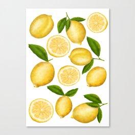 Luscious Lemon Pattern Canvas Print