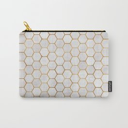 Geometric Hexagonal Pattern Carry-All Pouch