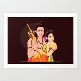 Essence of Love - Rama Seeta Art Print