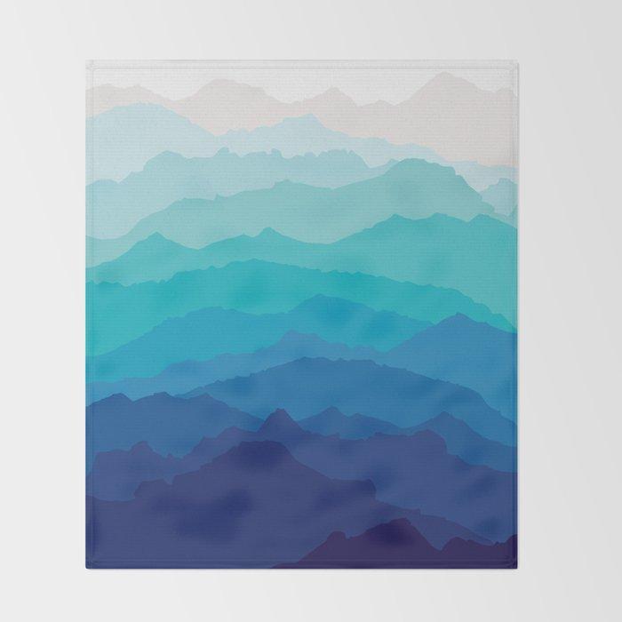 Blue Mist Mountains Throw Blanket