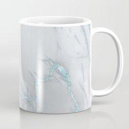 Marble Love Sea Blue Metallic Coffee Mug