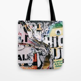Torn mexican posters wall Tote Bag