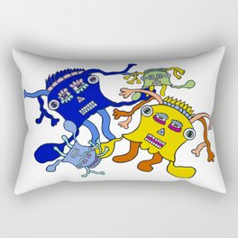Incantation: a colorful dance to attract positive waves ! Rectangular Pillow
