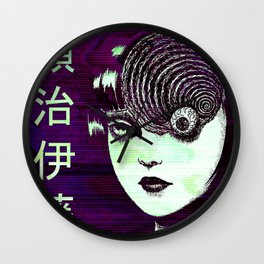 JUNJI ITO - SAD JAPANESE ANIME AESTHETIC Wall Clock