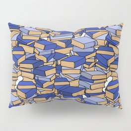 Book Collection in Blue Pillow Sham