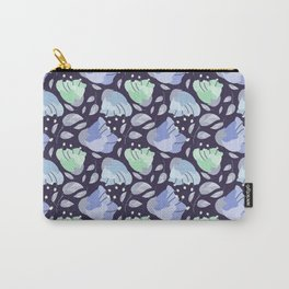 Modern abstract mint pastel purple floral illustration Carry-All Pouch
