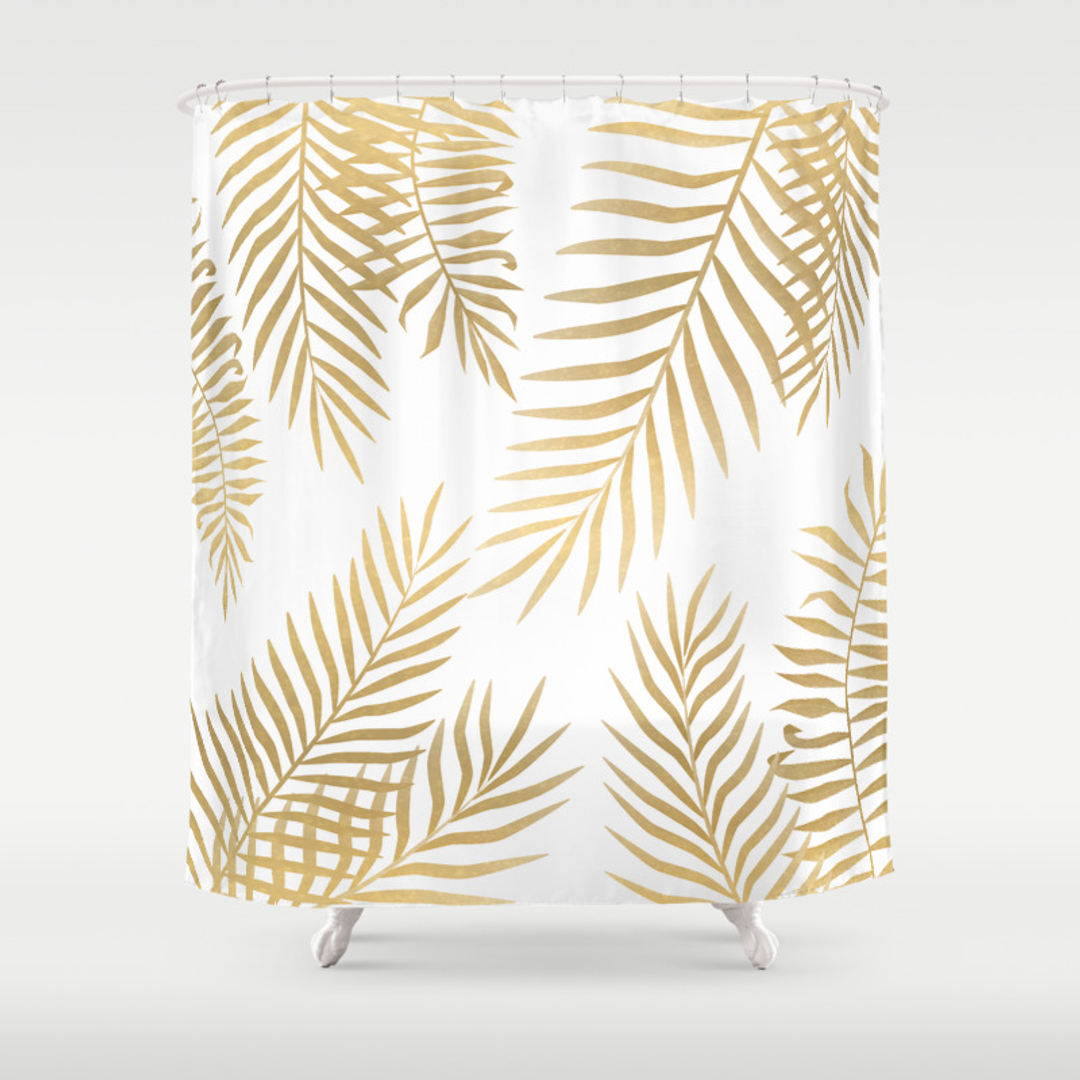 Luxury black and gold shower curtains - Luxury Black And Gold Shower Curtains 78