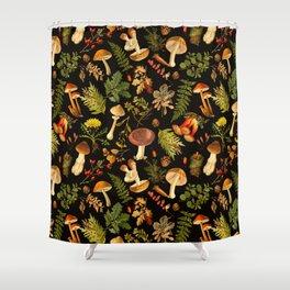 Vintage & Shabby Chic - Autumn Harvest Black Shower Curtain