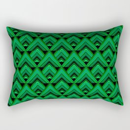 Green Leaves Triangle Rectangular Pillow
