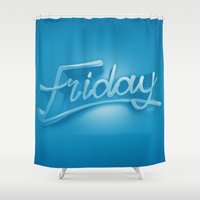 friday Shower Curtains featuring Friday by CKGD