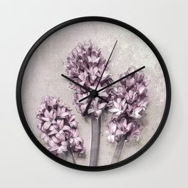 Delicate Hyacinths Wall Clock