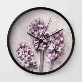 Delicate Hyacinths Wall Clock