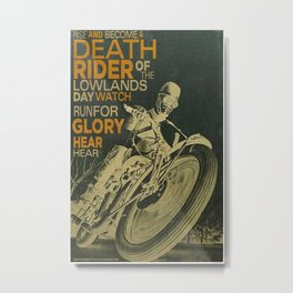 Death Rider Metal Print