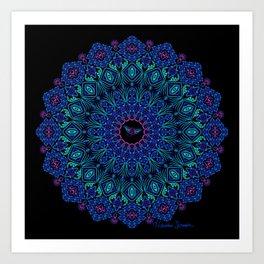 Tribal Manta Mandala Art Print