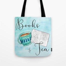 Books & Tea Tote Bag