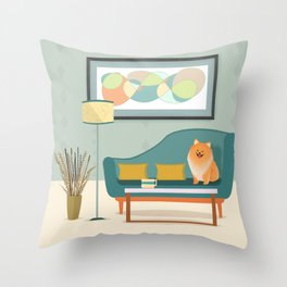 A Pomeranian Makes A House A Home Throw Pillow
