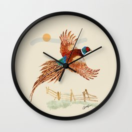 male pheasant Wall Clock