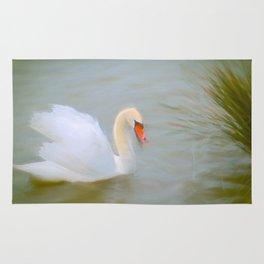 Soft swan lake Rug