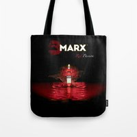 marx Tote Bags featuring Marx - Red Passion by ItalianLeo