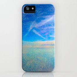 Frosty Window Above Clouds iPhone Case