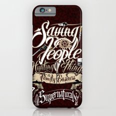 Supernatural Saving People Hunting Things the Family business quote Dark Background iPhone 6s Slim Case