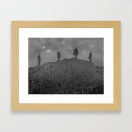 Walking the Giants Causeway Framed Art Print