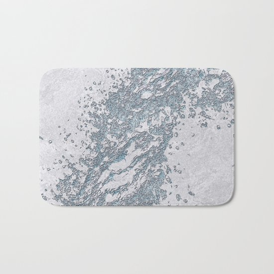 BE WATER MARBLE (abstract) Bath Mat