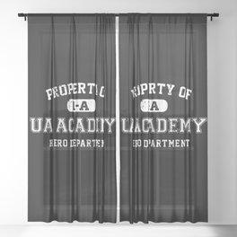 Property of UA Academy Sheer Curtain
