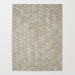Woven straw Poster