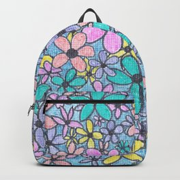 Flower Pattern in colour Backpack