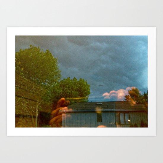Stormy Reflection  Art Print