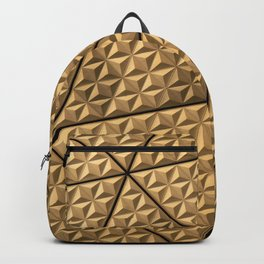 Gold Pattern Backpack