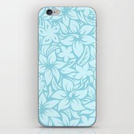 Moloaa Bay Hawaiian Hibiscus Aloha Shirt Print iPhone Skin