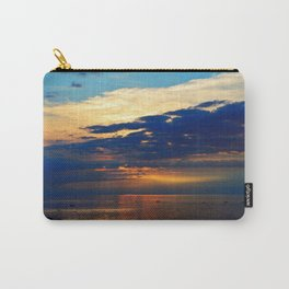 Blazing Sunset under Blue Sky Carry-All Pouch