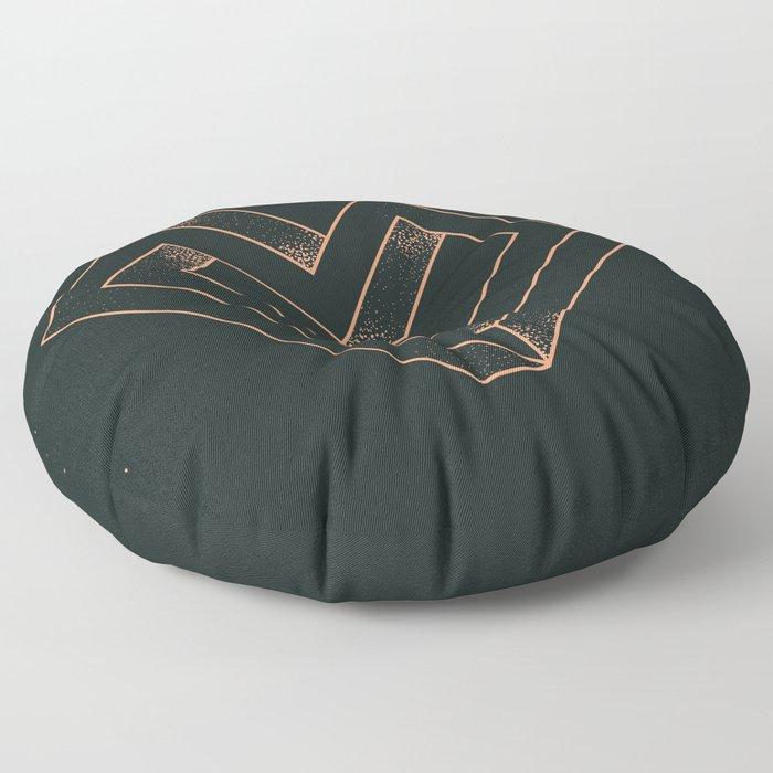 le coeur impossible (nº 6) Floor Pillow