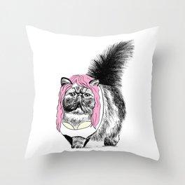 Cat Bra  Throw Pillow