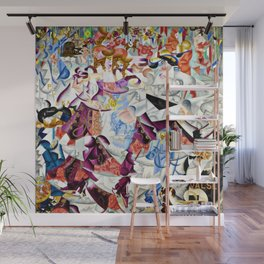 Dancing in the Paris Dancehall Bal Tabarin by Gino Severini Wall Mural