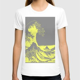 The Great Wave Yellow & Gray T-shirt