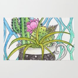 Cup of Cactus Rug