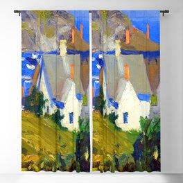 Edward Hopper Monhegan Houses Blackout Curtain