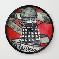 dalek Wall Clocks featuring Dalek by AntiPosi