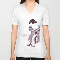 batik V-neck T-shirts featuring BATIK TIKKLONE by NURUL A.
