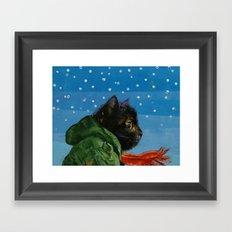 Winter Kitten Framed Art Print