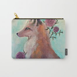 Fox in Flowers Carry-All Pouch