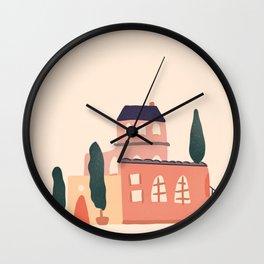 Nice Italian houses Wall Clock