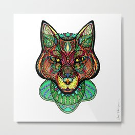Psychedelic fox Metal Print