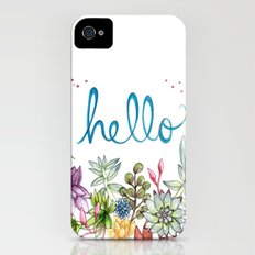 hello spring Slim Case iPhone (4, 4s)