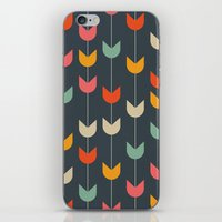 tulips iPhone & iPod Skins featuring Tulips by Tracie Andrews