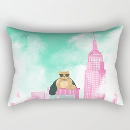 Teddy Bear in New York Rectangular Pillow